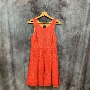 NWT Free People Pink Lace Backless Dress 6